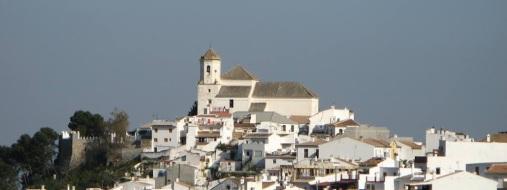 pretty white village